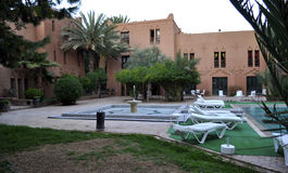 Hotel in Ouarzazate stock images