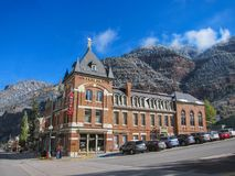 Hotel in Ouray Stockfotos