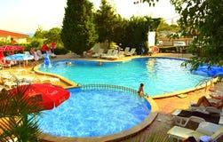 Hotel outdoor pool Stock Photos