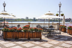 Hotel outdoor recreation area Stock Images