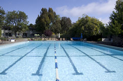 Hotel outdoor swimming pool Stock Image