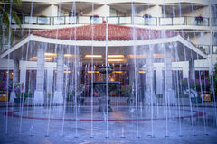 Hotel outdoor water fountain Royalty Free Stock Image