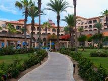Hotel overlooking the Sea of Cortez. Hotels overlooking the Sea of Cortez. In Baja Mexico near San Jose on the tourist corridor Stock Photos