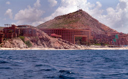 Hotel overlooking the Sea of Cortez. Hotels overlooking the Sea of Cortez. In Baja Mexico near San Jose on the tourist corridor. Built to match the environment Stock Photo
