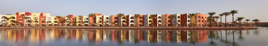 Hotel panoramic Stock Image