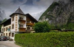 Hotel or pansion at Hallstatt village. Upper Austria royalty free stock images