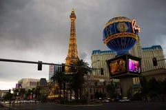 Hotel París en Las Vegas imagen de archivo