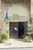 Hotel para las calles y las casas de los homosexuales y lesbiana en Tel Aviv Fotografía de archivo