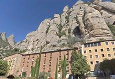 Hotel para los turistas en la montaña de Montserrat Fotos de archivo