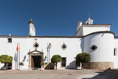 Hotel Parador city of Merida Spain, front view Royalty Free Stock Images