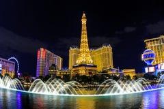 Hotel Parigi a Vegas Fotografia Stock Libera da Diritti
