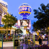 Hotel Paris Vegas with the Eiffel tower and gambling place on t Royalty Free Stock Images