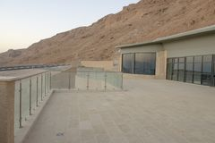 Hotel in park Massada on the mountain near the dead sea in southern Israel Royalty Free Stock Images