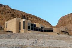 Hotel in park Massada op de berg dichtbij het dode overzees in zuidelijk Israël Royalty-vrije Stock Foto