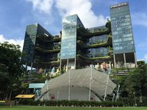 Hotel Park Royal, Singapore. Hotel Park Royal in Singapore. Speaker's Corner, Hong Lim Park is in the foreground Royalty Free Stock Image