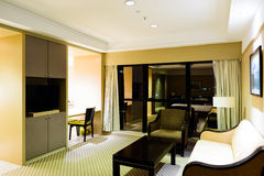 Hotel parlor Stock Photo