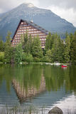Hotel Patria near tarn Strbske Pleso at High tatras, Slovakia Stock Images