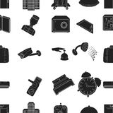 Hotel pattern icons in black style. Big collection of hotel vector symbol stock illustration Royalty Free Stock Photo