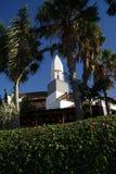 Hotel piacevole sull'isola di Lanzarote, una delle isole Canarie Fotografia Stock