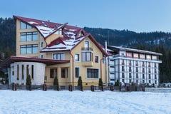 Hotel in Poiana Brasov, Roemenië Royalty-vrije Stock Afbeelding