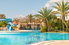 Hotel and pool Royalty Free Stock Images
