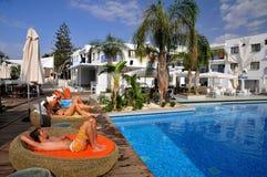 Hotel pool. In Ayia Napa -Cyprus  Island Stock Photo