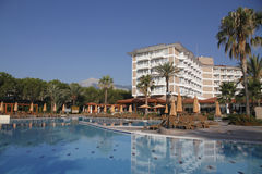 Hotel and pool Stock Images