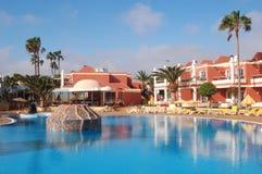 Hotel pool. In Corralejo, Fuerteventura, Canary Islands Royalty Free Stock Photography