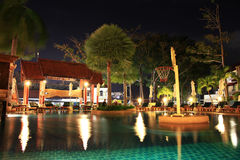 Hotel pool and  bar Royalty Free Stock Images