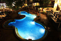 Hotel pool and bar. Landscape the hotel pool and bar Stock Photos