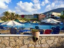 Hotel Pool in Hersonissos, Crete Royalty Free Stock Photo