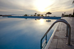 Hotel pool. Pool in a luxury hotel Stock Photography