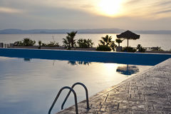 Hotel pool. Pool in a luxury hotel Stock Images