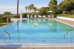 Hotel pool. Pool in a luxury hotel Royalty Free Stock Image