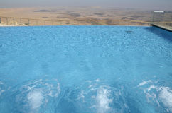 Hotel pool in Negev desert. Stock Images