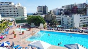 Hotel pool Playa Del Ingles Stockfoto