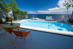 hotel pool private Στοκ Εικόνες
