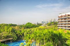 Hotel pool in shenzhen china stock images