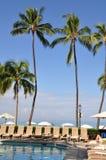 Hotel pool Waikiki royalty free stock photography