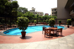 Hotel Poolside Royalty Free Stock Photos