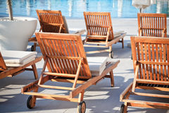 Hotel Poolside Chairs Stock Image