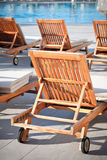 Hotel Poolside Chairs Royalty Free Stock Image