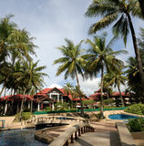 hotel poolside thai architecture Stock Photography