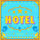 Hotel Poster Royalty Free Stock Photography
