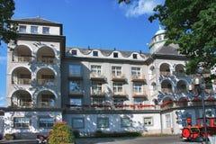 Hotel principal del balneario en la ciudad Jesenik Foto de archivo