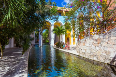 Hotel przy Cancun Meksyk Zdjęcia Royalty Free