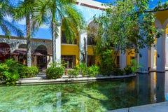 Hotel przy Cancun Meksyk Zdjęcia Stock