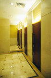 Hotel public toilet interior Royalty Free Stock Photos