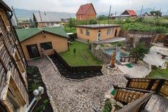 Hotel que sube a Pomestye en Belokurikha en el Altai Krai Imagenes de archivo