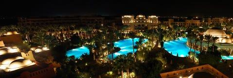 Hotel-Rücksortierung-Panorama Stockbilder